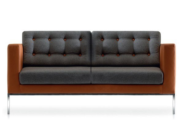 Tufted 2 seater fabric sofa VOGUE | Tufted sofa by Quinti Sedute