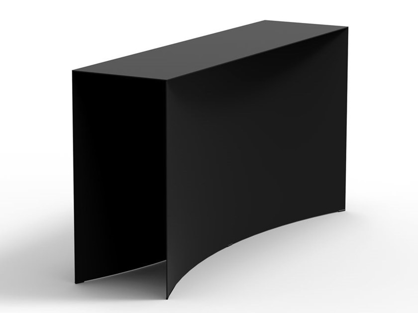 Rectangular steel freestanding console VOID | Console table freestanding by Desalto