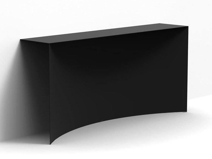 Rectangular steel wall consolle VOID | Console table by Desalto