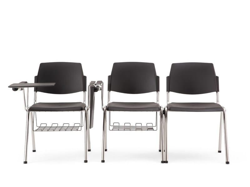 Sedia impilabile con braccioli VOLÉE PLASTIC | Sedia da conferenza con ribaltina by Diemmebi