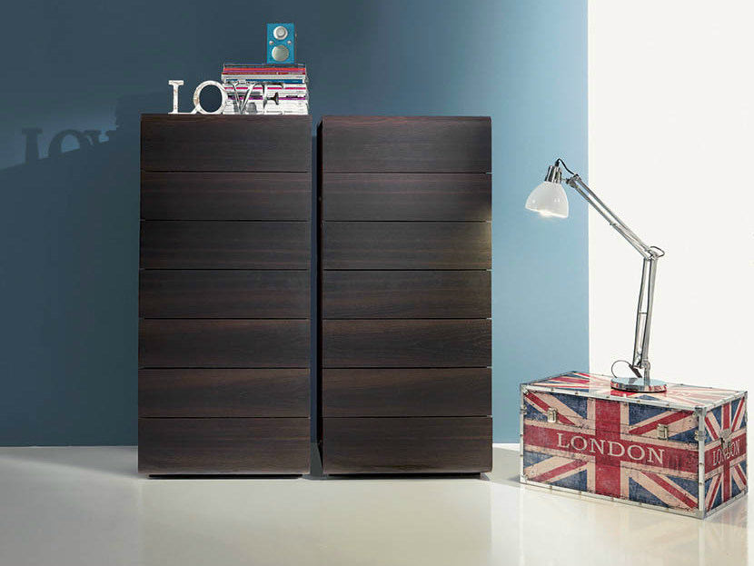 Wooden chest of drawers VOLO | Chest of drawers by Fimar