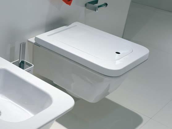 Wall-hung ceramic toilet with bidet VOLO | Wall-hung toilet with bidet by CERAMICA FLAMINIA