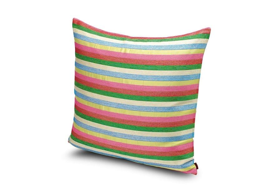 Square fabric cushion VOLTERRA by MissoniHome