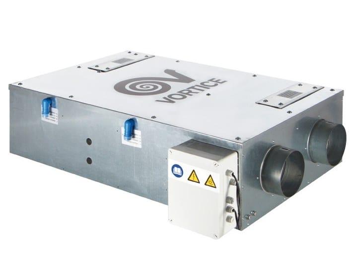 Recuperatore di calore per controsoffitti VORT HRI 350 FLAT by Vortice