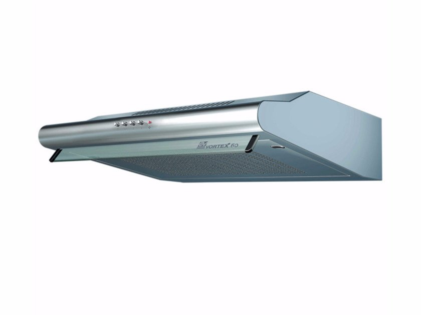 Wall-mounted steel cooker hood with integrated lighting VORTEX 60-I by Vortice