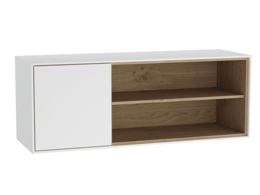 Suspended wooden bathroom wall cabinet with doors VOYAGE | Bathroom cabinet by VitrA Bathrooms