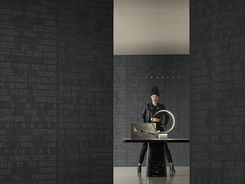 Writing wallpaper VOYAGE by Wall&decò