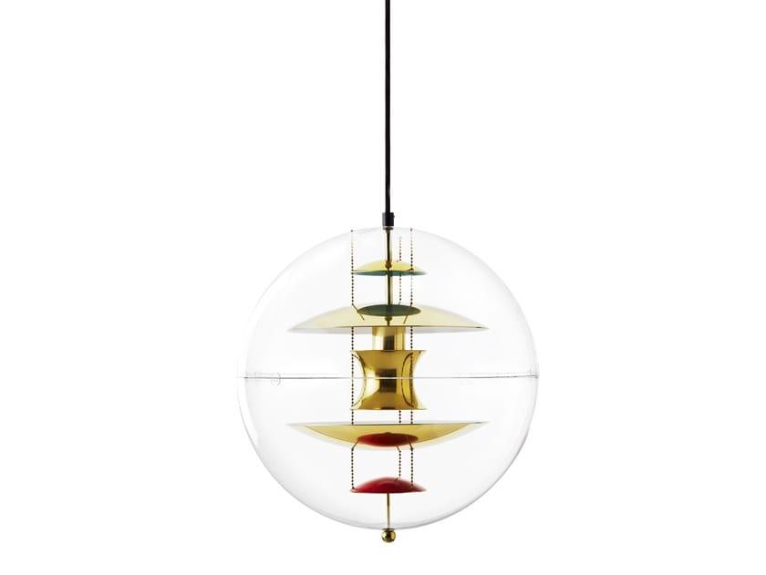 Acrylic pendant lamp VP GLOBE BRASS   Pendant lamp by Verpan