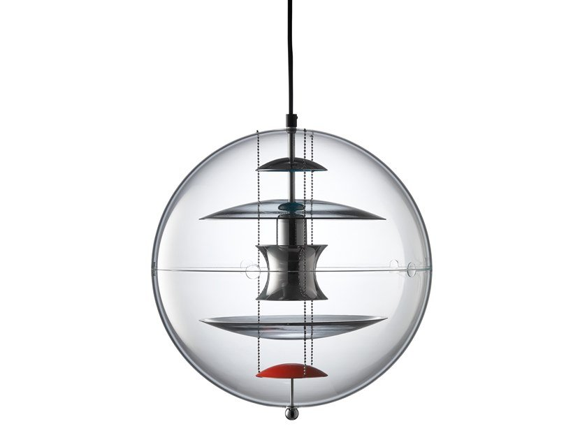 Acrylic pendant lamp VP GLOBE COLOURED GLASS by Verpan