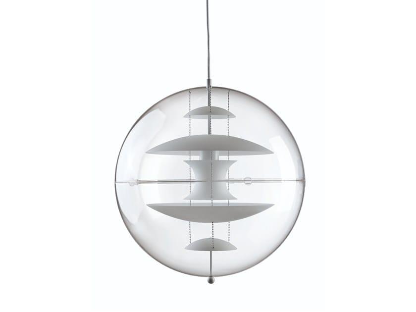 Acrylic pendant lamp VP GLOBE GLASS by Verpan