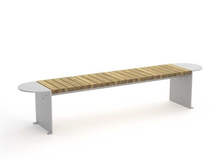 Groovy Sectional Backless Steel And Wood Bench Vroom Backless Machost Co Dining Chair Design Ideas Machostcouk