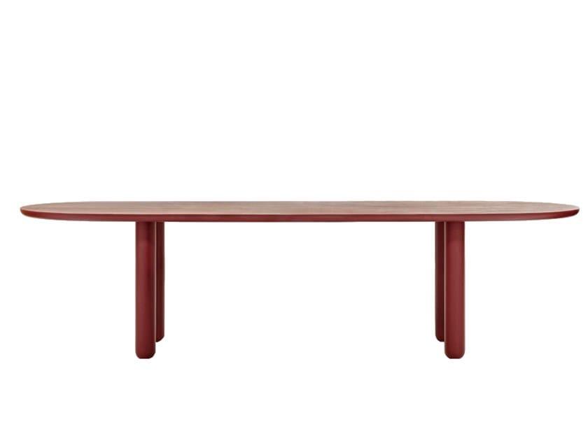 Oval wood veneer dining table VUELTA FD   Table by Wittmann