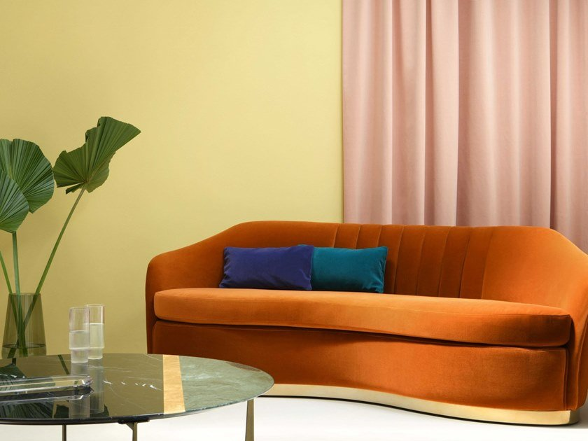 Solid-color fabric VULCAIN by LELIEVRE
