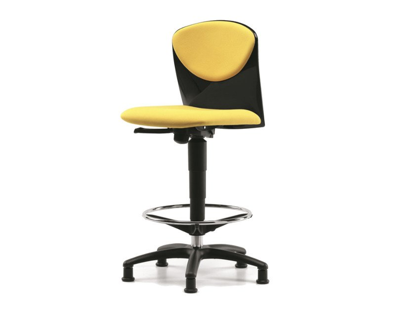 Fabric drafting stool with 5-Spoke base VULCAN 1325 by TALIN