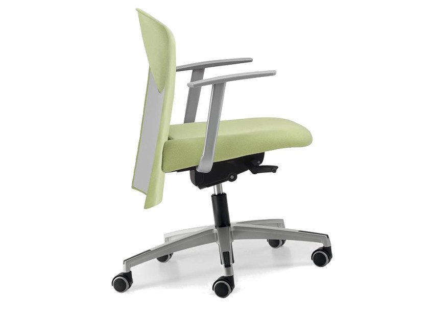 Fabric task chair with 5-Spoke base with armrests with casters VULCAN 1432 Z by TALIN