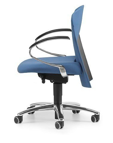 Fabric task chair with 5-Spoke base with armrests with casters VULCAN 1442 Z by TALIN