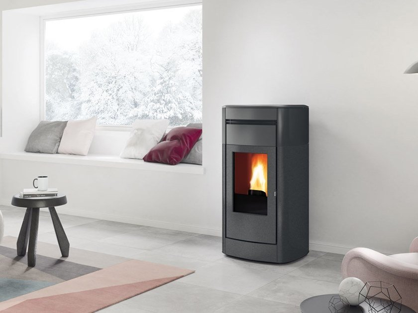 Pellet steel stove VYDA AIR TIGHT by EDILKAMIN