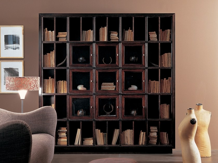 Freestanding sectional wooden bookcase W 1240 | Bookcase by Annibale Colombo