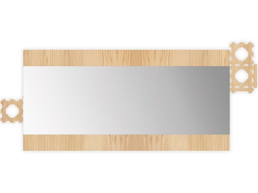Rectangular wall-mounted framed mirror W-410 | Mirror by LAS