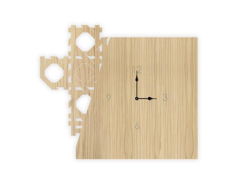 Wall-mounted MDF clock W-415 | Clock by LAS