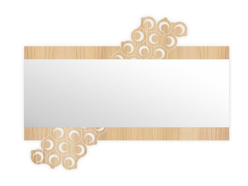 Rectangular wall-mounted framed mirror W-421 | Mirror by LAS
