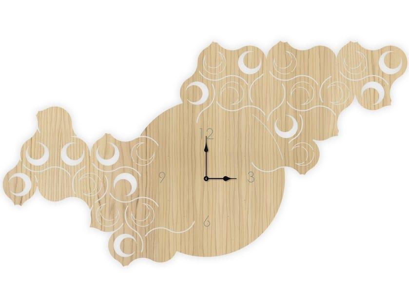 Wall-mounted MDF clock W-426L | Clock by LAS