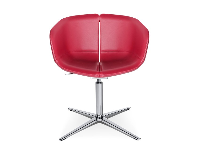 Swivel easy chair with 4-spoke base W-COCKTAIL | Easy chair with 4-spoke base by WAGNER