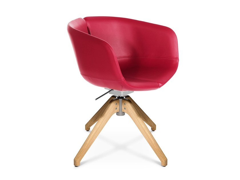 Swivel trestle-based easy chair W-COCKTAIL | Trestle-based easy chair by WAGNER