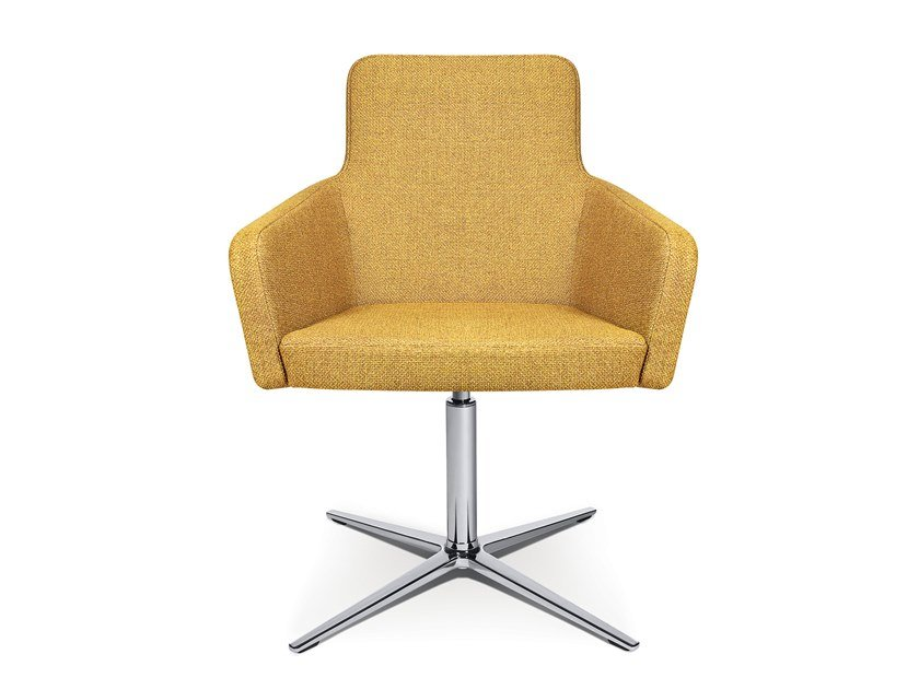 Easy chair with 4-spoke base W-CUBE 1 | Easy chair with 4-spoke base by WAGNER