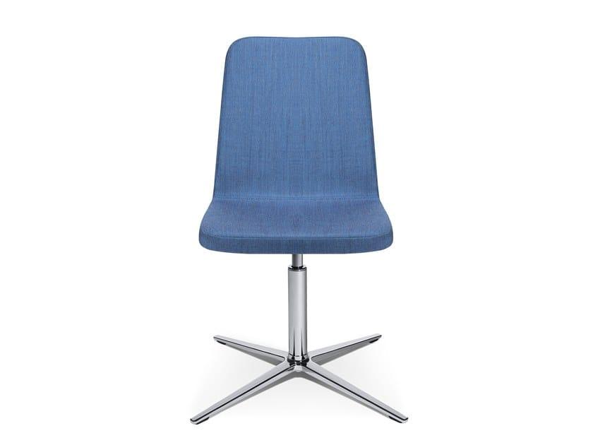 Swivel easy chair with 4-spoke base W-CUBE 2   Easy chair with 4-spoke base by WAGNER