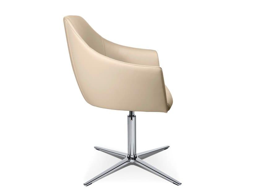 Swivel easy chair with 4-spoke base W-CUBE 5 | Easy chair with 4-spoke base by WAGNER