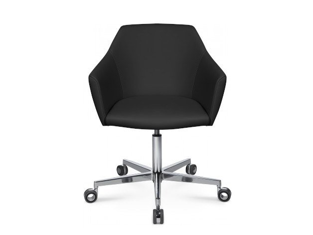 Swivel easy chair with 5-spoke base with castors W-CUBE 5 | Easy chair with 5-spoke base by WAGNER