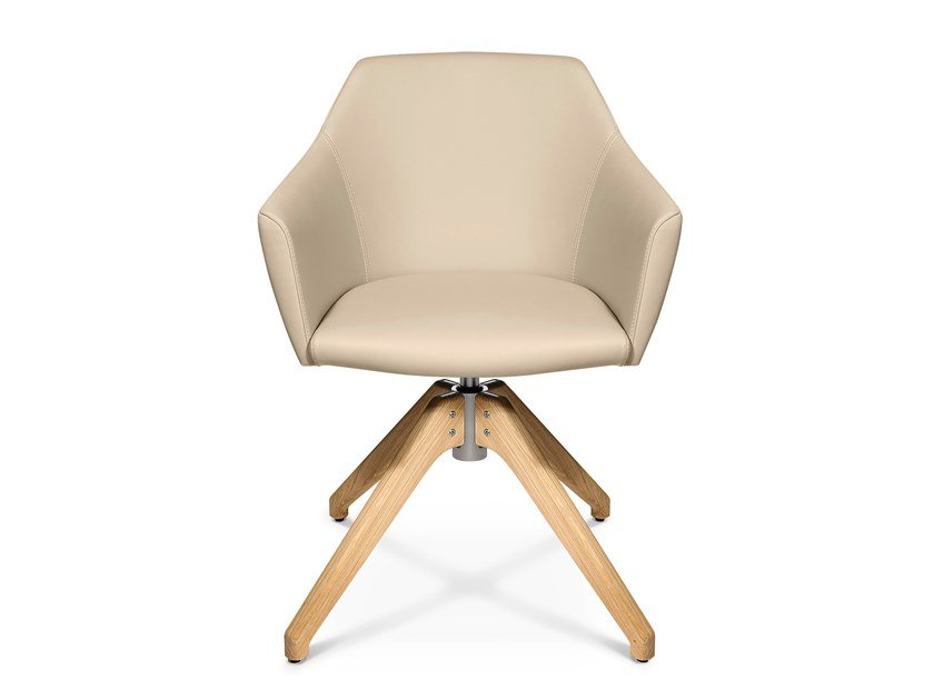 Swivel trestle-based easy chair W-CUBE 5 | Trestle-based easy chair by WAGNER
