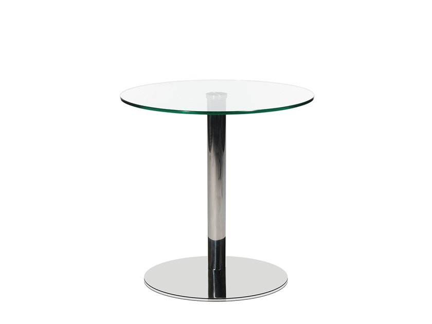 Round glass and steel coffee table W-TABLE | Round coffee table by WAGNER