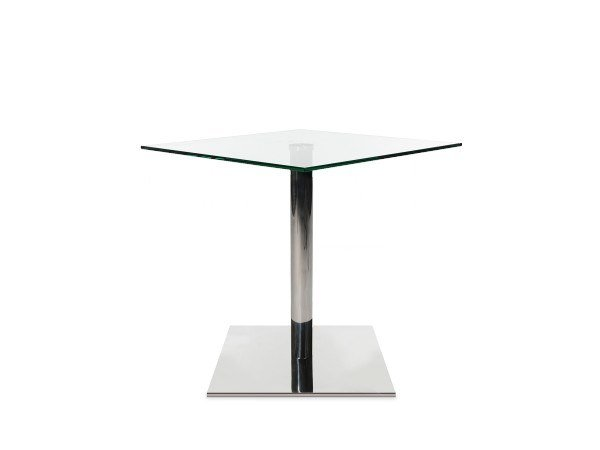 Square glass and steel coffee table W-TABLE | Square coffee table by WAGNER