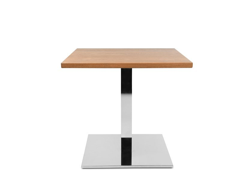 Square steel and wood coffee table W-TABLE | Steel and wood coffee table by WAGNER