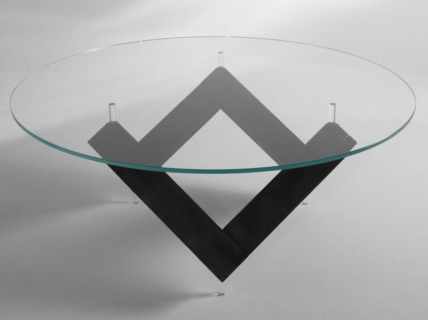 W | Tavolo in legno e vetro