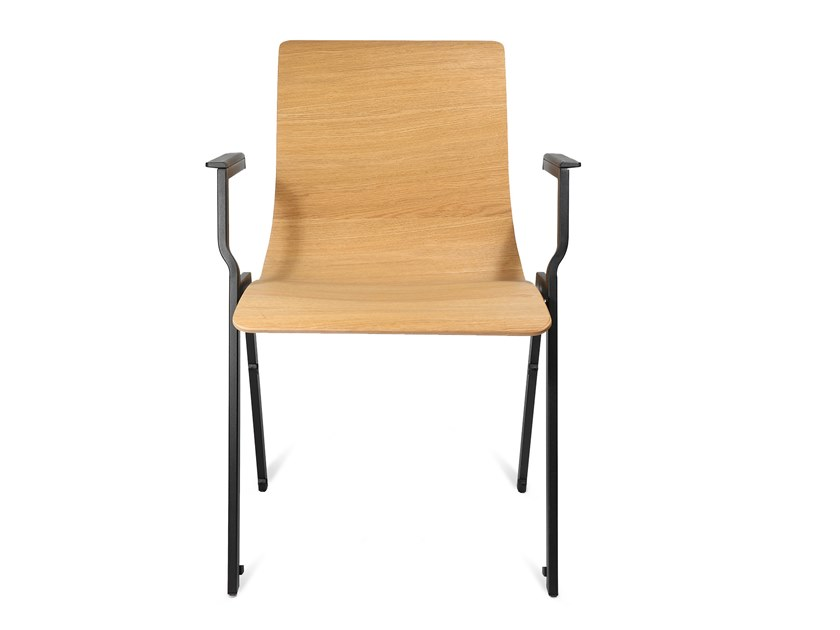 Stackable training chair with armrests W20 | Training chair with armrests by WAGNER