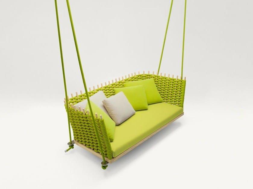 3 Seater garden hanging chair WABI | Garden hanging chair by paola lenti