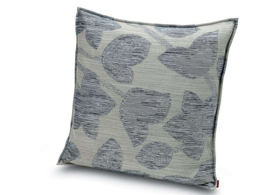 Cushion in jacquard fabric with floral motif in relief WACHAU | Cushion by MissoniHome