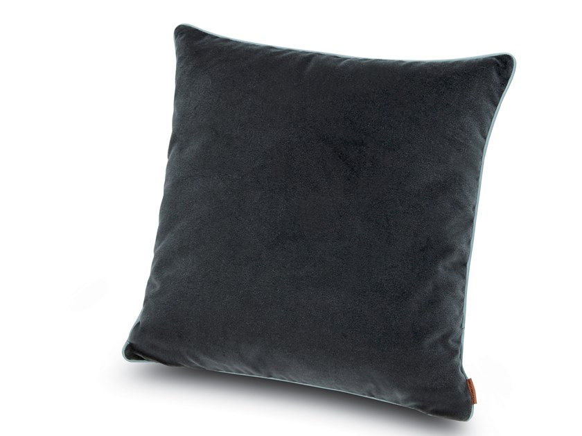 Cushion in solid-colour cotton velvet WAILUA   Solid-color cushion by MissoniHome