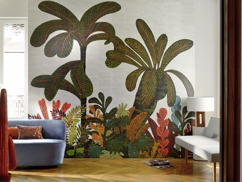Tropical vinyl wallpaper WAITING FOR EVE by Élitis
