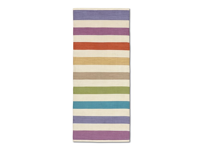 Handwoven mat with multicolour macro stripes WAIUKU by MissoniHome
