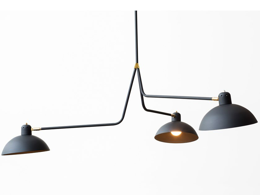 LED direct light pendant lamp WALDORF TRIPLE by Lambert & Fils