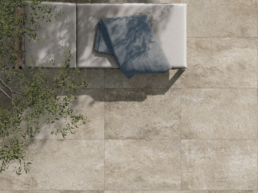 Outdoor floor tiles with stone effect WALK by Supergres