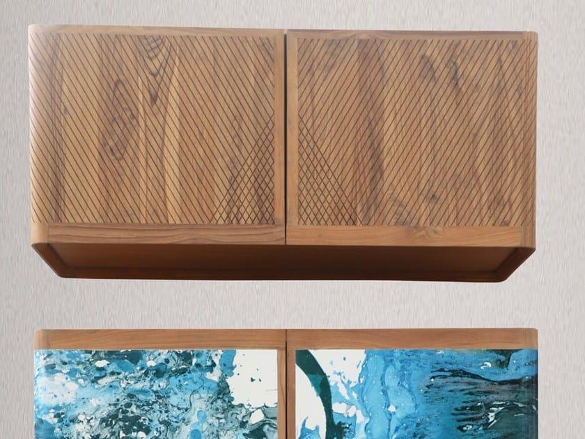 Horizontal teak wall cabinet with door RHIGOL | Wall cabinet by ALANKARAM