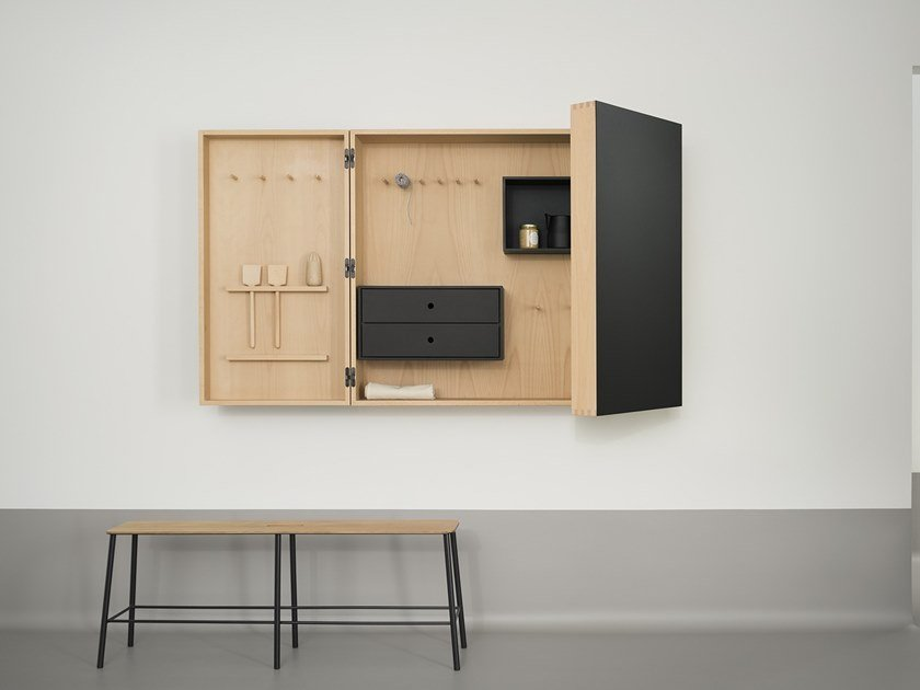Wall cabinet with linoleum finish Wall cabinet by Forbo