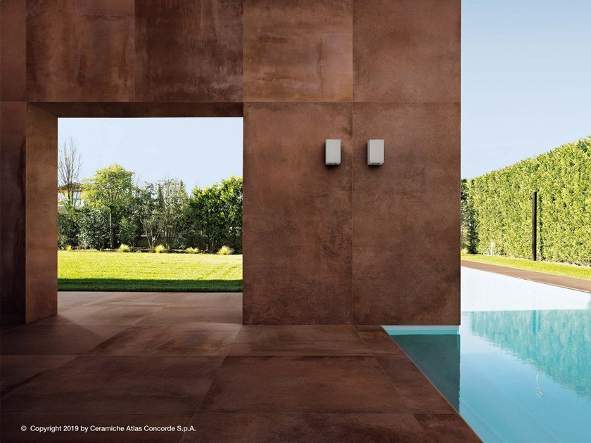 Outdoor floor tiles with metal effect BLAZE | Outdoor floor tiles by Atlas Concorde