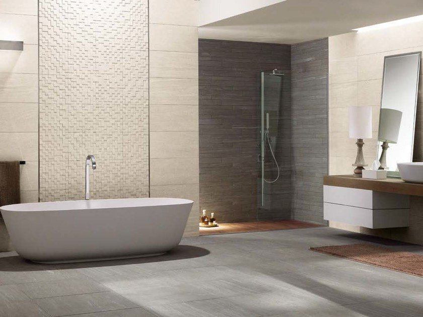 Porcelain stoneware wall/floor tiles with stone effect DISCOVER by Panaria Ceramica