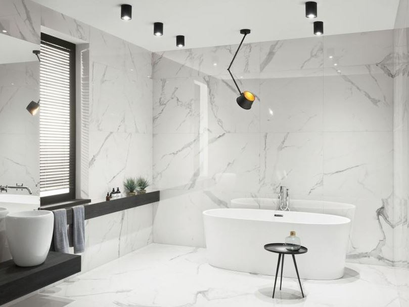 Porcelain stoneware wall/floor tiles with marble effect PIETRASANTA | Wall/floor tiles by tubadzin